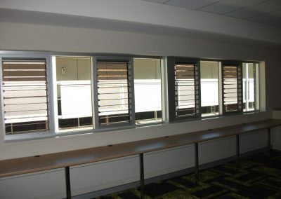 Multiple Breezway Louvre Windows increase airflow to assist with cooling and refresh the environment