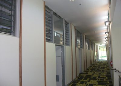 Breezway Louvres above doors increase airflow while keeping learning rooms private