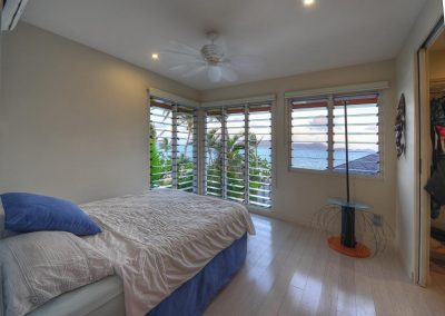Open up to maximise views in the bedroom with Breezway Louvres