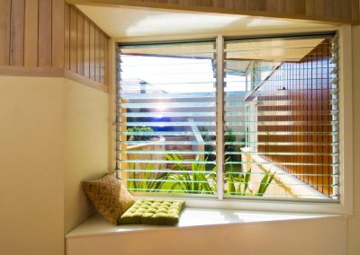 Breezway Louvres are ideal to create a cosy nook and bring little and air into the home.