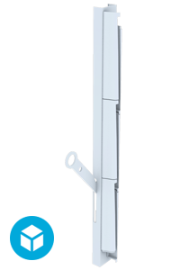 Breezway Altair Louvre Ring Pull handle 3D interactive image