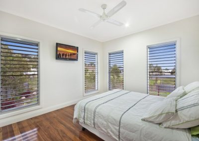 Multiple Altair Windows allow plenty of fresh air into the bedroom