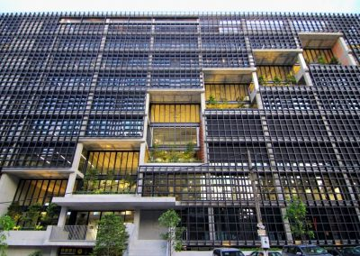 Breezway louvres open wide to provide natural ventilation in office buildings