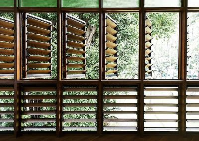 Breezway louvres can be installed into timber frames