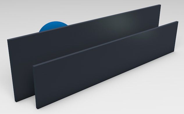 <strong>Powder Coated Aluminium</strong><p>Provides privacy with ventilation.</p>