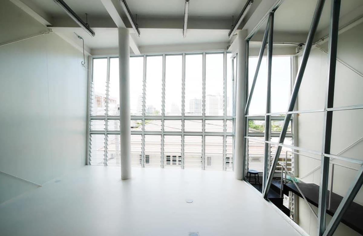 Internal space with view of Breezway Louvres